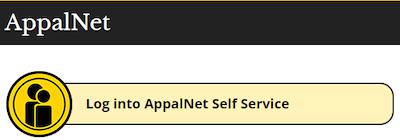 AppalNet Self Service login