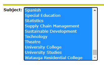 Select ALL Subjects snip